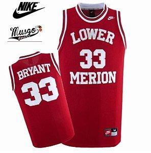Camiseta Regata Basquete Colegial High School Lower Merion Kobe Bryant Numero 33