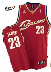 Camiseta Regata Basquete  NBA Classics Cleveland Cavaliers 2007 Lebron James Numero 23 Vermelha
