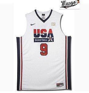 Camiseta regata Basquete  Seleção Americana Dream Team Barcelona 1992 Michael Jordan #9