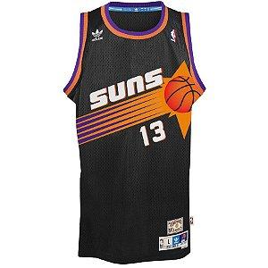 Camiseta Esportiva Regata Basquete NBA Phoenix Suns Steve Nash Numero 13 Preta