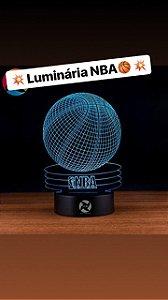 Luminária de mesa em  acrilico Basquete NBA Logo