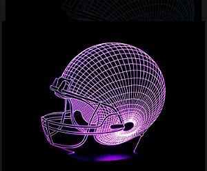 Luminária de mesa em acrilico Futebol Americano  NFL