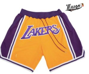 Short Esportivo Basquete NBA Los Angeles Lakers just Do classic Amarelo