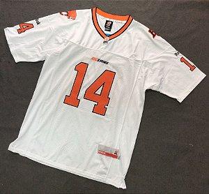 Camisa Esportiva Futebol Americano CFL BC Lions Travis Lulay Numero 14 Branca