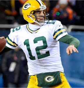 Camisa Esportiva Futebol Americano NFL Green Bay Packers Rodgers Numero 12 Branca