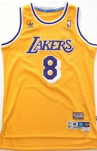 Camiseta Esportiva Regata Basquete NBA   Los Angeles Lakers Kobe Bryant Numero 8 Amarela