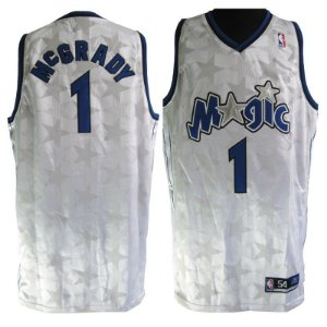 Camiseta esportiva Regata Basquete NBA Orlando Magic Tracy Mcgrady numero 1 branca