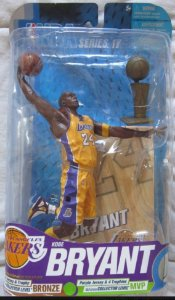 Boneco Miniatura Basquete NBA Los Angeles Lakers Kobe Bryant #24