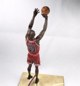 "Boneco Miniatura Basquete NBA Chicago Bulls Michael Jordan ""The Shot"" finais de 1998"
