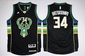Camiseta Regata Basquete NBA  Swingman Bucks Giannis antetokounmpo #34