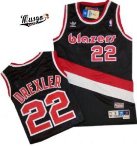 Camiseta Esportiva Regata Basquete NBA Swingman  Portland Trail Blazers Clyde Drexler Numero 22 Preta