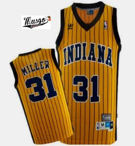 Camiseta Esportiva Basquete  NBA Indiana Pacers Reggie Miller Numero 13 Listrada