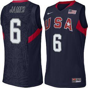 Camiseta Regata Esportiva Basquete Seleção Americana Lebron James Olimpiadas de Pequim 2008 Numero 6 Azul
