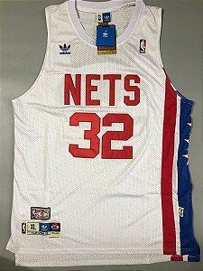 Camiseta Esportiva Regata Basquete  NBA Classics New York Nets Julius Irving Numero 32 Branca