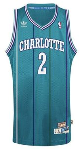 Camiseta Regata Esportiva Basquete NBA Charlotte Hornets  Larry Johnson Numero 2