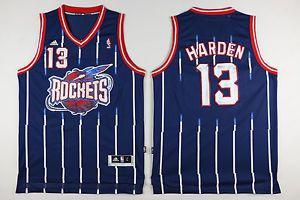 Camiseta Regata Esportiva Basquete  NBA Classics Houston Rockets 🚀 James Hardem Numero 13 Azul  Listrada