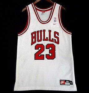 Camiseta Regata Esportiva Basquete NBA Swingman  Chicago Bulls Michael Jordan Numero 23 Branca