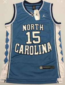 Camiseta Regata Basquete Universitário  North Carolina Vince Carter Numero 15 Azul