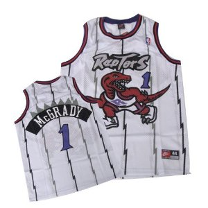 Camiseta Regata Esportiva Basquete NBA Toronto Raptors Tracy Mcgrady Numero 1 Branca