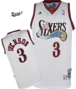 Camiseta Regata Esportiva Basquete NBA Swingman Philadelphia 76ers Allen Iverson Numero 3 Branca