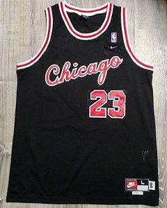 Camiseta Esportiva Regata Basquete NBA Chicago Bulls Michael Jordan 1984  Numero 23 Preta