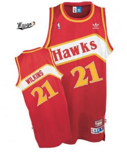 Camiseta Regata Basquete NBA Classics Atlanta Hawks Dominique Wilkins Número 21 Vermelha