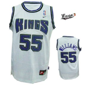 Camiseta Regata Esportiva Basquete NBA Sacramento Kings Jason Williams Numero 55 Branca