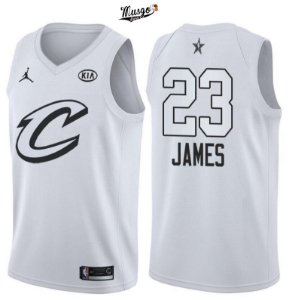 Camiseta Regata Esporte Basquete NBA All Star Game 20180Lebron James número 23 Branca