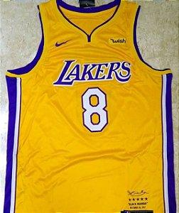 Camiseta Regata Basquete NBA  Lakers Kobe Bryant Edição limitada #8