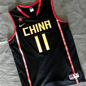 Camiseta Esporte Regata Basquete Selecao China Yi J. L. Número 11