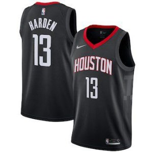 Camiseta  Regata Basquete NBA Houston Rockets James Hardem Numero 13 preta