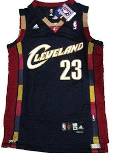 Camiseta Esportiva Regata Basquete NBA Cleveland Cavaliers 2007 Blue Lebron James Número 23 Azul