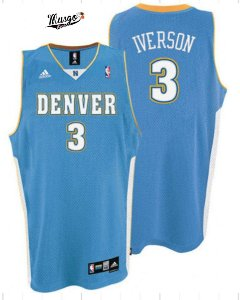 Camiseta Esportiva  Regata Basquete NBA Classics Denver Nuggets Allen Iverson Numero 3 Azul