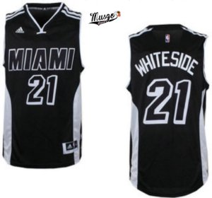 Camiseta Regata Basquete NBA Miami Heat Hassan Whiteside Black #21