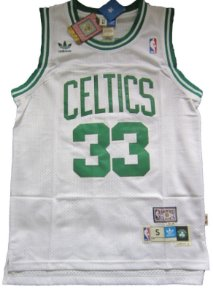 Camiseta Esportiva Regata Basquete NBA Boston Celtics Larry Bird Numero 33 Branca