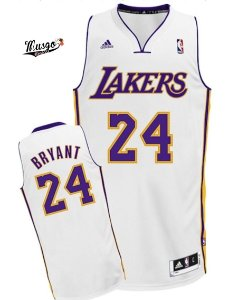 Camiseta Regata Basquete NBA Los Angeles Lakers Kobe Bryant #24 White