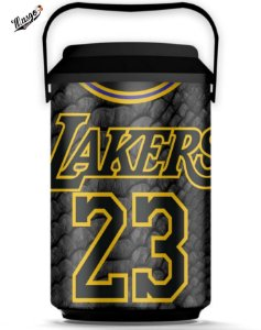 Cooler Basquete NBA Los Angeles Lakers Lebron James #23 Black