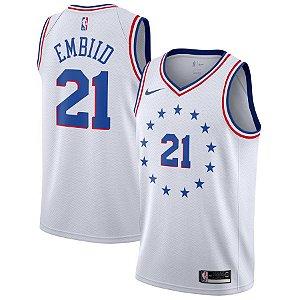 Camiseta Regata Basquete NBA Philadelphia 76ers Earned Edition Joel Embiid #21