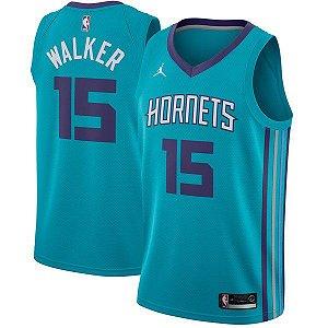 Camiseta Regata Basquete NBA Charlotte Hornets Kemba Walker #15