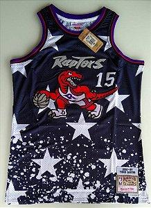 Camiseta Esportiva Regata Basquete NBA Toronto Raptors Vince Cárter 4o de Julho #15