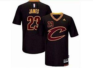 Camisa Esportiva Basquete NBA Cleveland Cavaliers Lebron James Numero 23 com manga