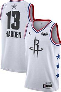 Camiseta Esportiva Regata  Basquete NBA All Star Game 2019 Houston Rockets James Hardem Numero 13 Branca