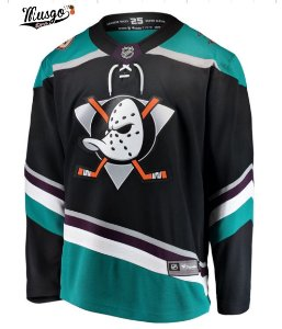 Camisa esportiva Hockey NHL Super Patos 2019 Paul Kariya Numero 9 Preta