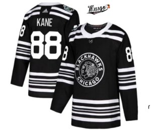 Camisa Esportiva Hockey NHL Chicago BlackHawks Patrick Kane numero 88 Preta Edicao Limitada