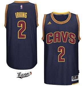 Camiseta Esportiva Regata Basquete NBA Cleveland Cavaliers Kirie Irving Numero 2 Azul