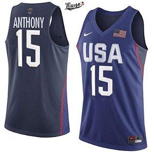 Camiseta Regata Basquete Seleção Americana Rio 2016 Carmelo Anthony #15