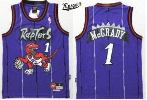 Camiseta Regata Esportiva Basquete NBA Toronto Raptors Tracy Mcgrady Numero 1 roxa