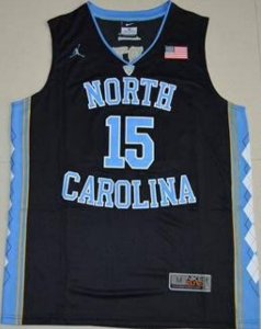 Camiseta Regata Basquete Universitário  NCAA North Carolina Vince Cárter #15 Preta