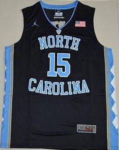 Camiseta Regata Basquete Universitário  NCAA North Carolina Vince Cárter #15 Preta