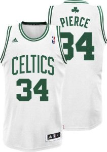 Camiseta Regata Esportiva Basquete NBA Boston Celtics Paul Pierce #34 Branca